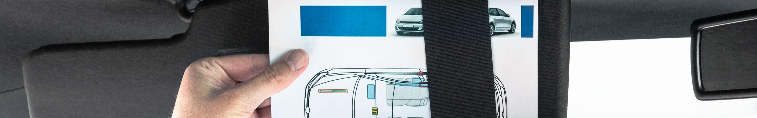 Sign Line Werbeservice Aufkleber Rettungskarte Im Fahrzeug