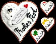 """Lebkuchen Herz """"Frohe Weihnachten"""""""