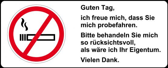 Aufkleber - Rauchen verboten VfW