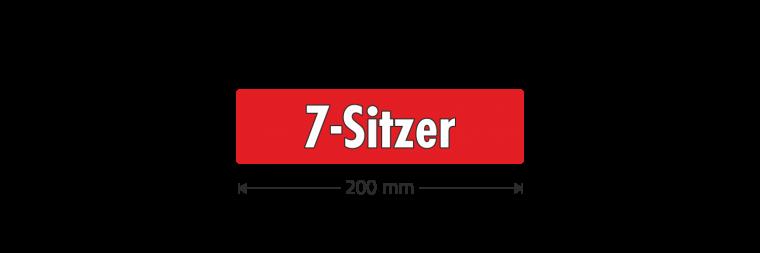 """Ausstattungsaufkleber """"7-Sitzer"""""""