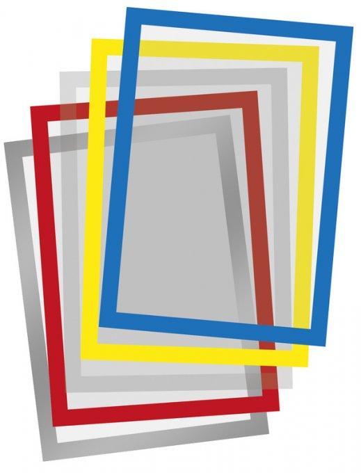 Hafttasche für DIN A4 Blatt im Hoch- und Querformat I VE = 10 Stk.