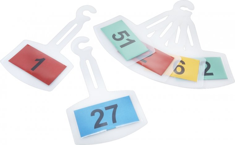 Leitzahl-Spiegelanhänger I VE = 25 Stk. durchnummeriert