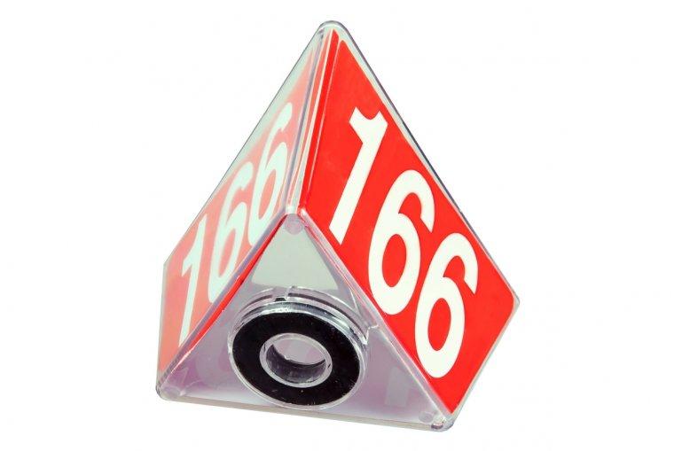 Transparenter Nummernblock I 1VE = 10 Stk.
