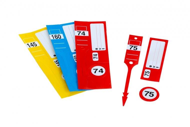 """Schlüsselanhänger-Set """"Leitzahl Light"""" I 1VE 300 Stück 1-300 nummeriert"""