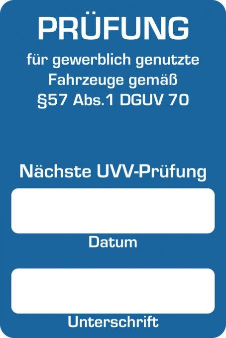 """Kundendienst-Aufkleber """"Nächste UVV-Prüfung"""" I 250 Stück auf Rolle"""
