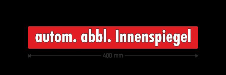 """Ausstattungsaufkleber """"autom. abbl. Innenspiegel"""""""
