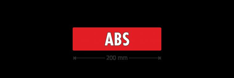 "Ausstattungsaufkleber ""ABS"""