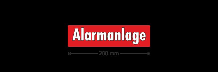 """Ausstattungsaufkleber """"Alarmanlage"""""""