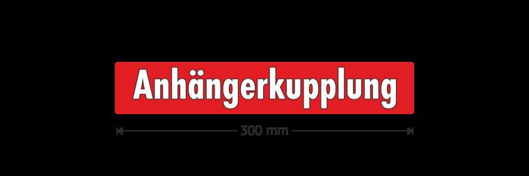 """Ausstattungsaufkleber """"Anhängerkupplung"""""""