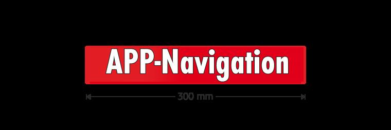 """Ausstattungsaufkleber """"APP-Navigation"""""""