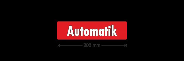 """Ausstattungsaufkleber """"Automatik"""""""