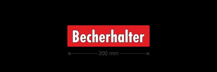 """Ausstattungsaufkleber """"Becherhalter"""""""