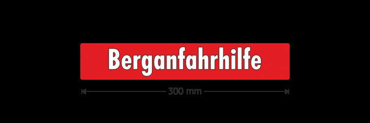 "Ausstattungsaufkleber ""Berganfahrhilfe"""