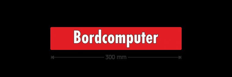 "Ausstattungsaufkleber ""Bordcomputer"""