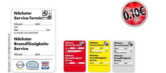 Bremsflüssigkeits-Service 45x65 mm