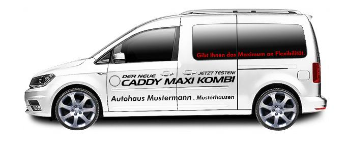 sign line werbeservice caddy maxi kombi. Black Bedroom Furniture Sets. Home Design Ideas