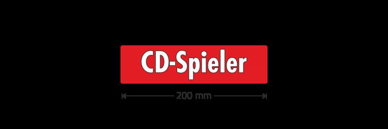 "Ausstattungsaufkleber ""CD-Spieler"""
