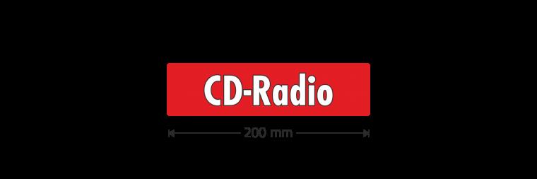 """Ausstattungsaufkleber """"CD-Radio"""""""