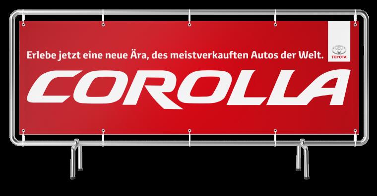 "Werbebanner ""Corolla"" 4000 mm"