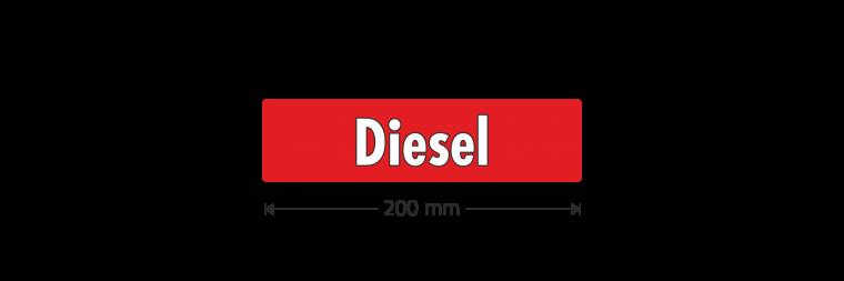"""Ausstattungsaufkleber """"Diesel"""""""
