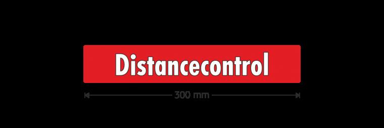 """Ausstattungsaufkleber """"Distancecontrol"""""""