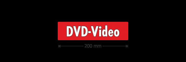 """Ausstattungsaufkleber """"DVD-Video"""""""