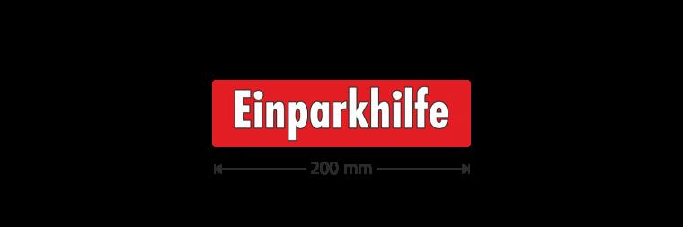 """Ausstattungsaufkleber """"Einparkhilfe"""""""