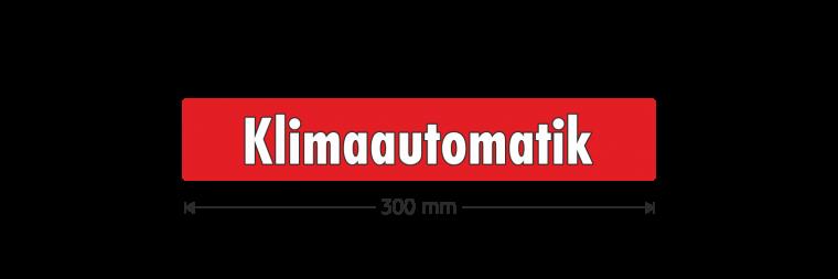 """Ausstattungsaufkleber """"Klimaautomatik"""""""