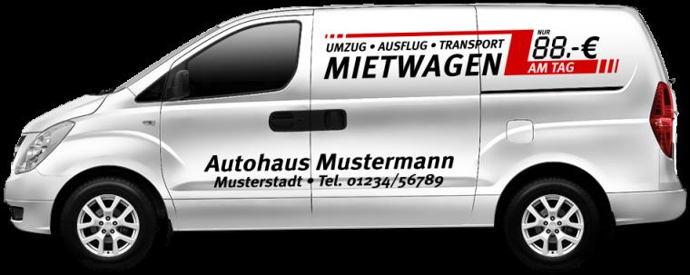 """Mietwagen """"Umzug - Ausflug - Transport"""""""