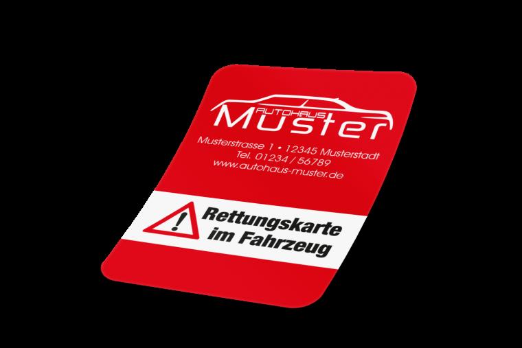 Sign Line Werbeservice Aufkleber Mit Händlereindruck Rettungskarte Im Fahrzeug Online Kaufen
