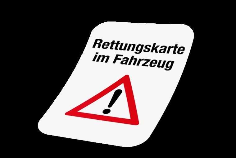 Sign Line Werbeservice Aufkleber Rettungskarte Im Fahrzeug Online Kaufen