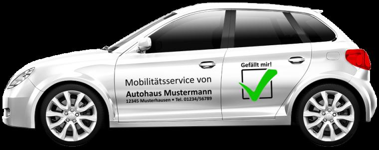 """Werkstattersatzwagen """"Mobilitätsservice"""""""