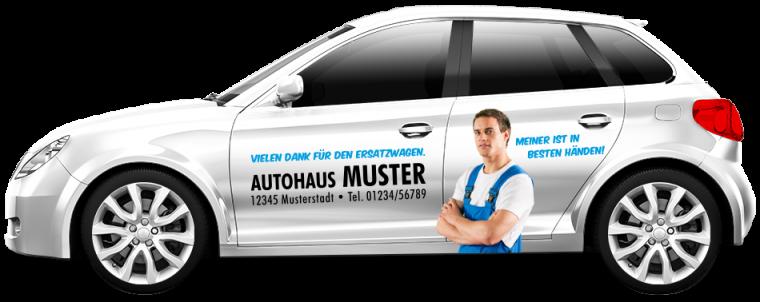 """Werkstattersatzwagen """"In besten Händen"""""""