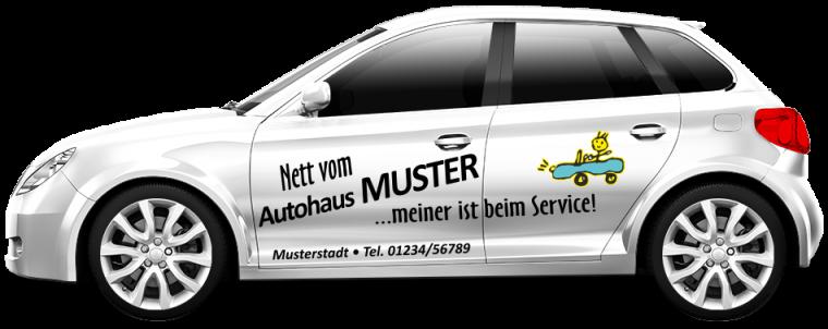 """Werkstattersatzwagen """"Nett vom ..."""""""