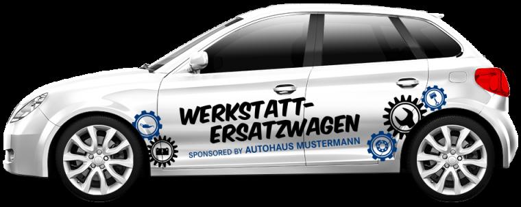 """Werkstattersatzwagen """"Sponsored by"""""""