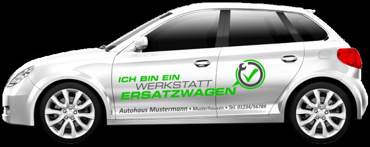 """Werkstattersatzwagen """"Ich bin ein ..."""""""