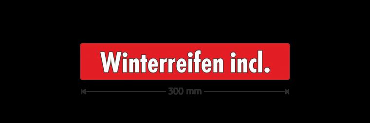 """Ausstattungsaufkleber """"Winterreifen incl."""""""