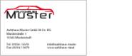 Adress-Aufkleber PVC 70x35 mm
