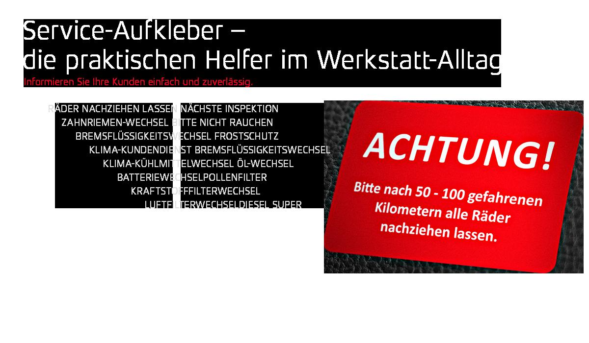 Slider 32 - Service-Aufkleber